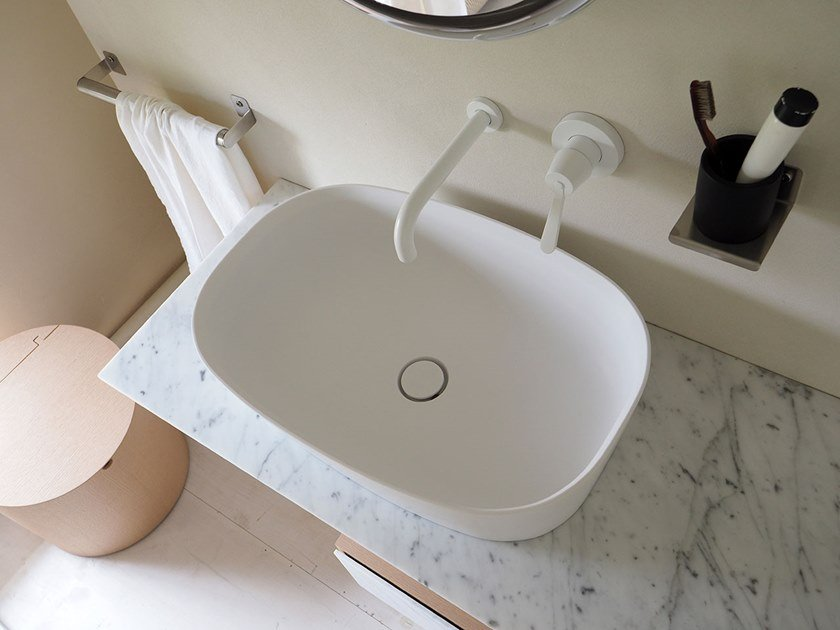 Countertop oval Cristalplant® washbasin NEB | Washbasin by Agape