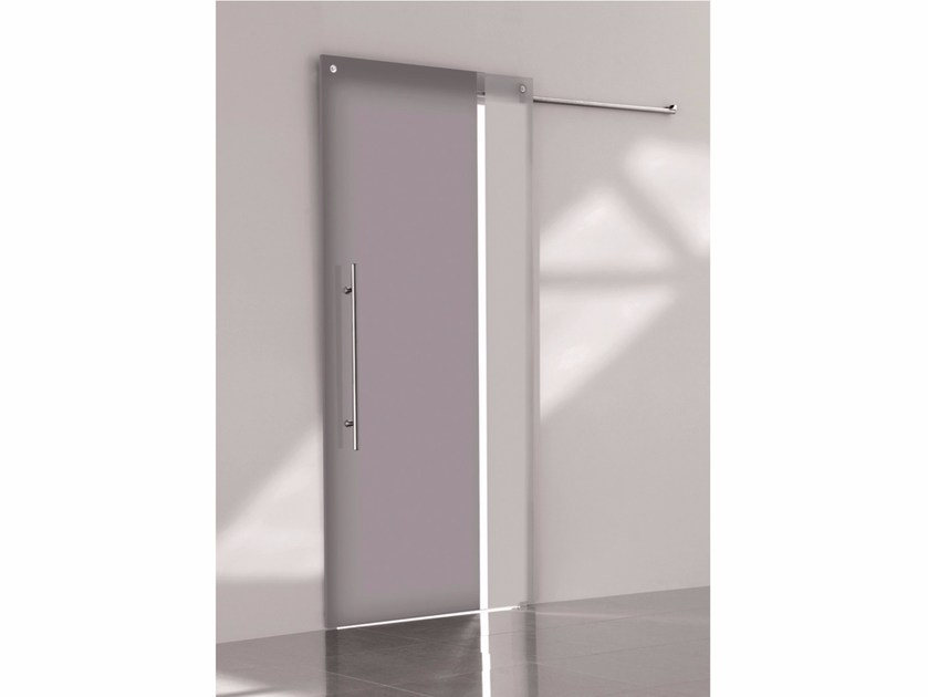 Stained glass sliding door BI•COLOR CENERE – NEBBIA by Casali