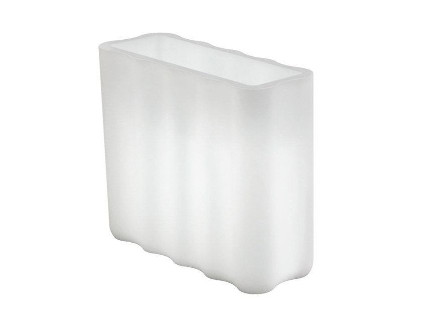 High rectangular polyethylene planter with light NEBULA | Planter with light by Lyxo Design