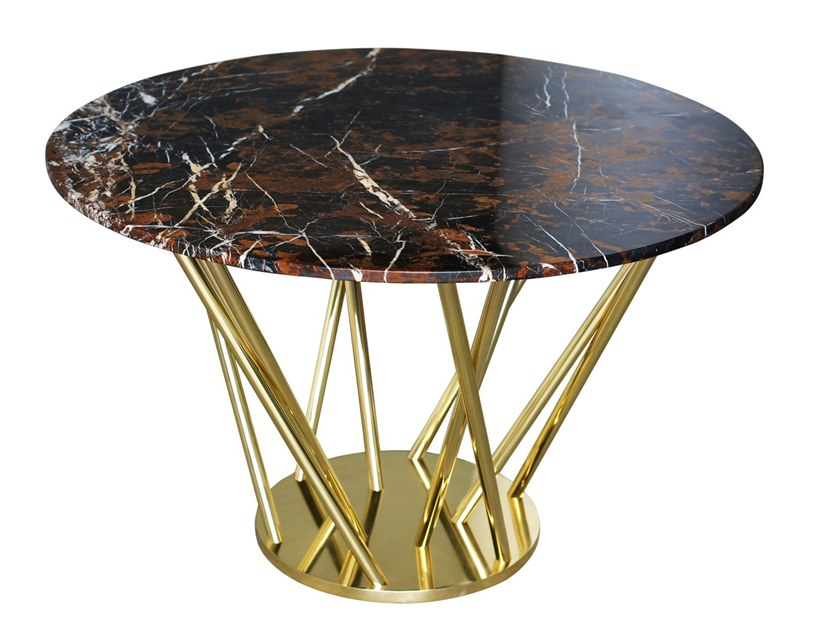 Round marble dining table NEBULA | Table by Malabar