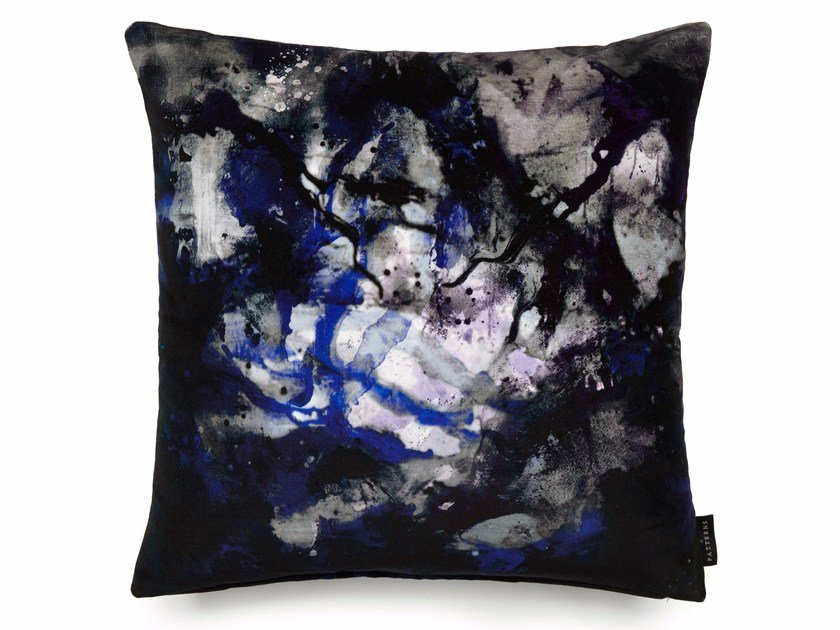Square cotton cushion with removable cover NEBULOUS INFINITY | Square cushion by 17 patterns