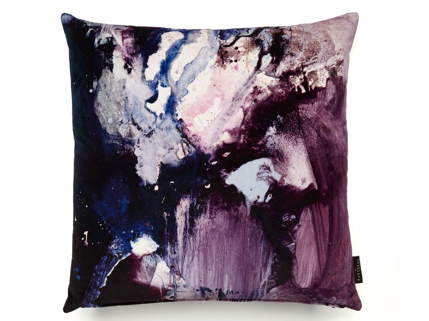 Square cotton cushion with removable cover NEBULOUS | Square cushion by 17 patterns