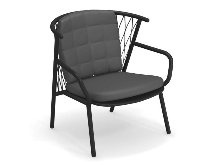 Garden aluminium easy chair NEF   Easy chair by emu