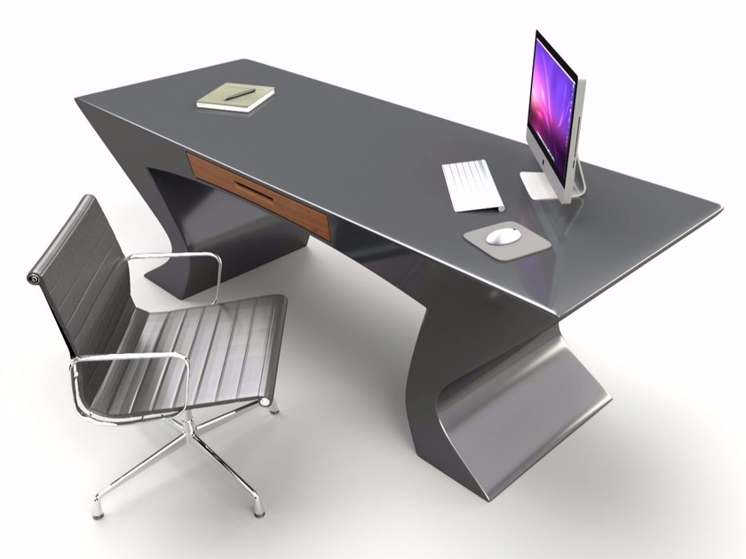 Lacquered Adamantx® office desk with drawers NEFERTITI by ZAD ITALY