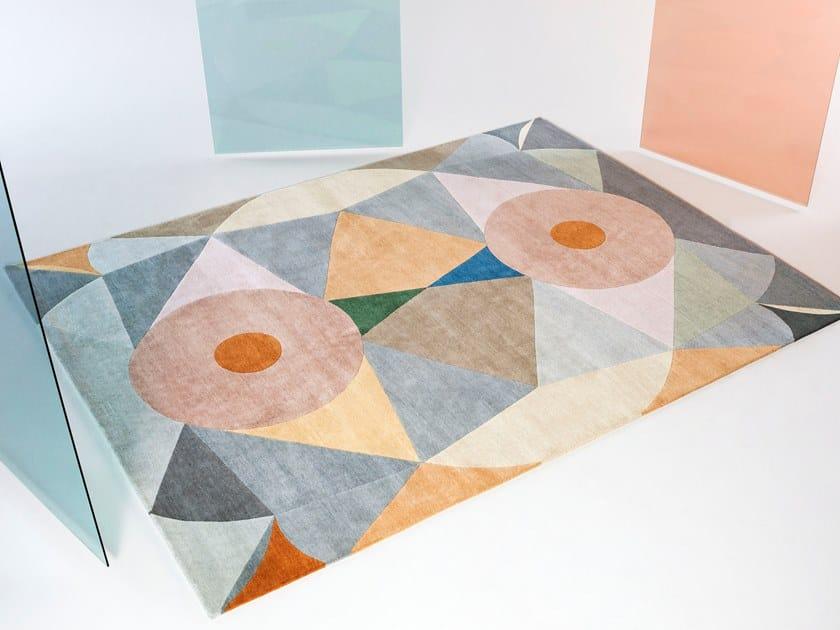 Handmade rectangular wool rug RITUALE by Tacchini Edizioni