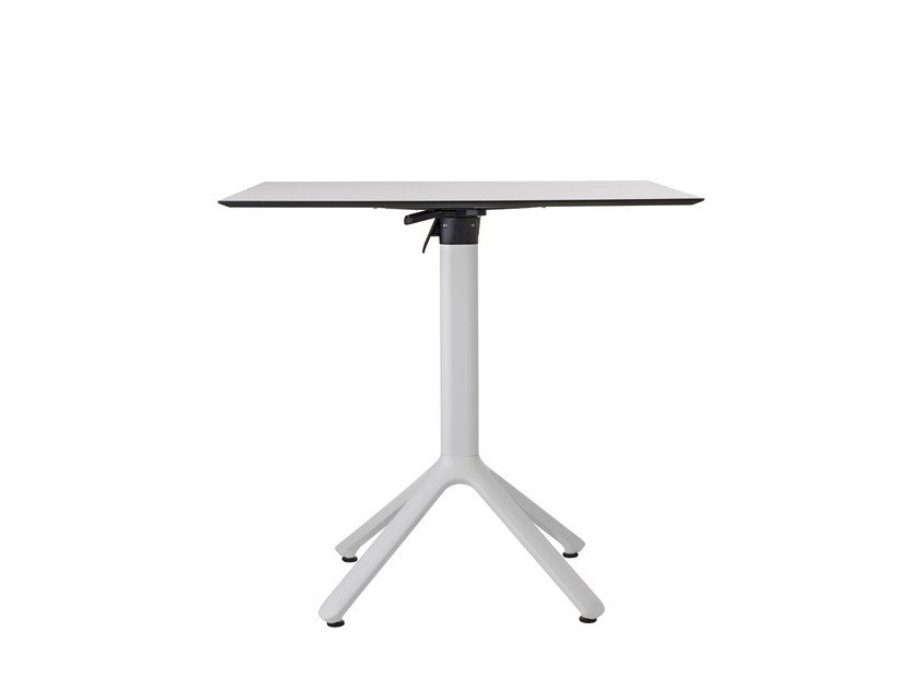 Drop-leaf square aluminium table NEMO | Drop-leaf table by SCAB DESIGN