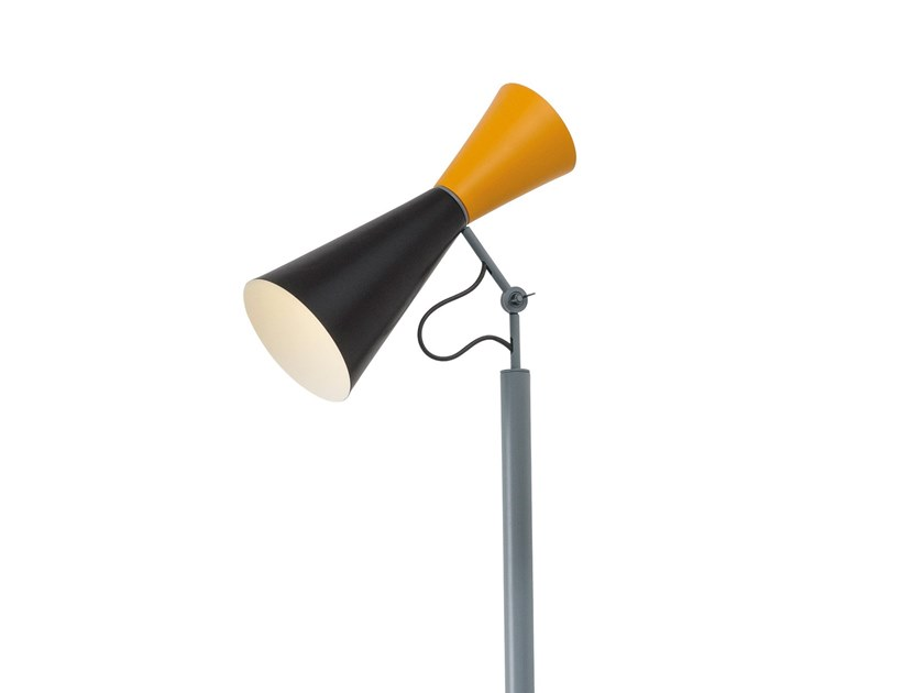 LED adjustable floor lamp NEMO - PARLIAMENT Black / Yellow by Archiproducts.com