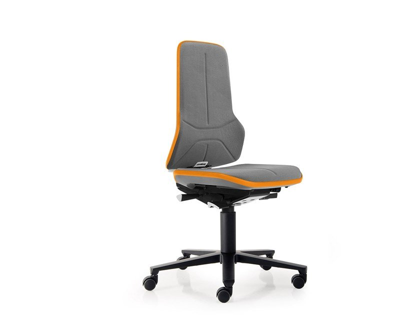 Work chair with 5-Spoke base with casters NEON 9563 by bimos