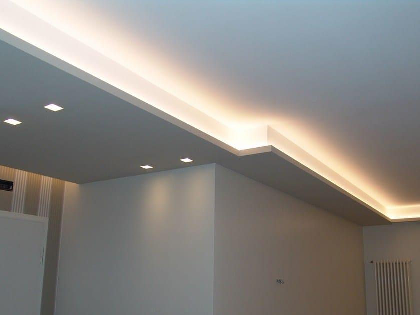 Profilo per illuminazione lineare da soffitto neon valletta by