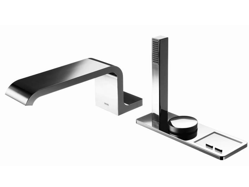 Metal bathtub tap with hand shower NEOREST | Bathtub tap with hand shower by TOTO