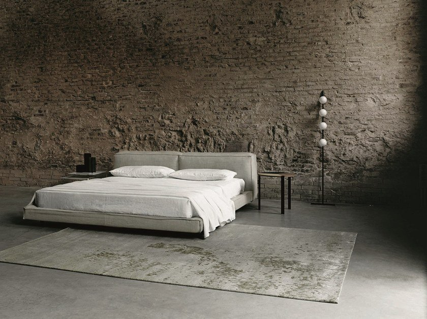 Fabric double bed NEOWALL | Bed by Living Divani