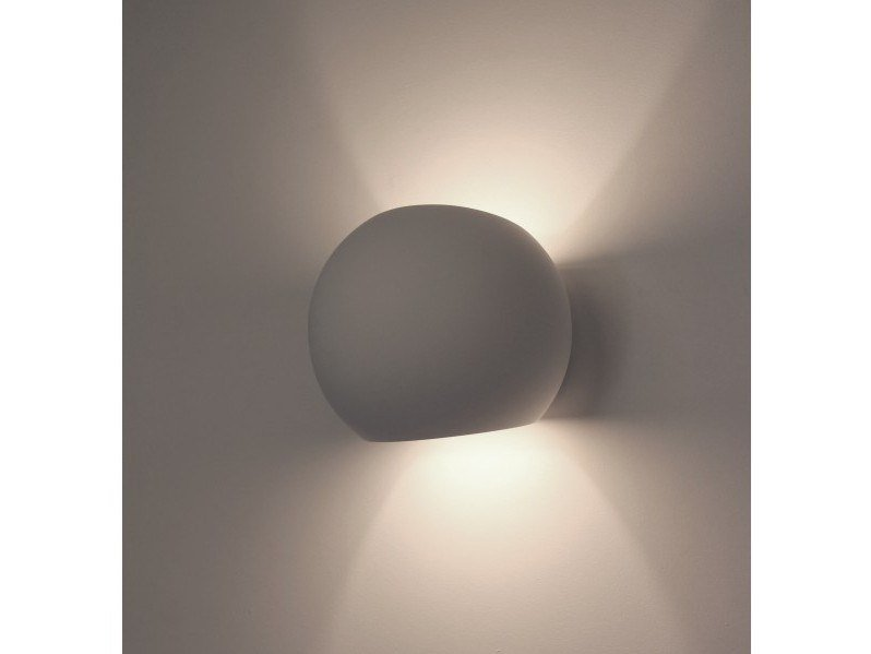 Direct-indirect light plaster wall light NEPTUNE by GESSO