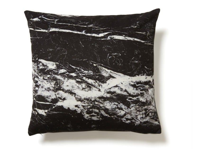 Square cushion NERO MARQUINA MARBLE by Koziel