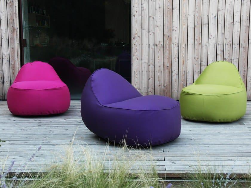 Upholstered fabric garden armchair NEST | Garden armchair by GART