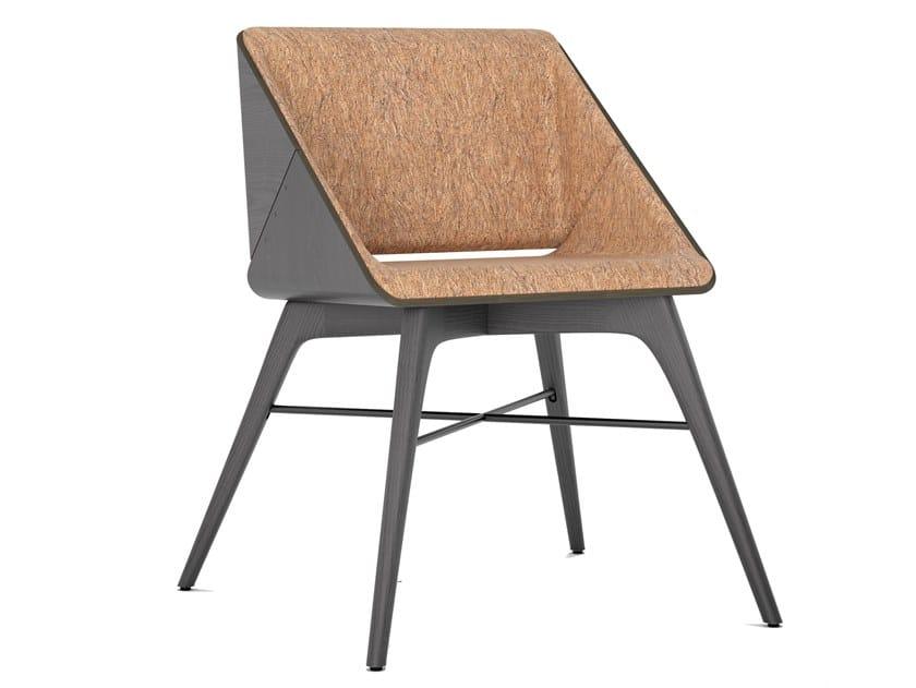 Sedia in sughero e legno massello con braccioli NEST   Sedia by AROUNDtheTREE