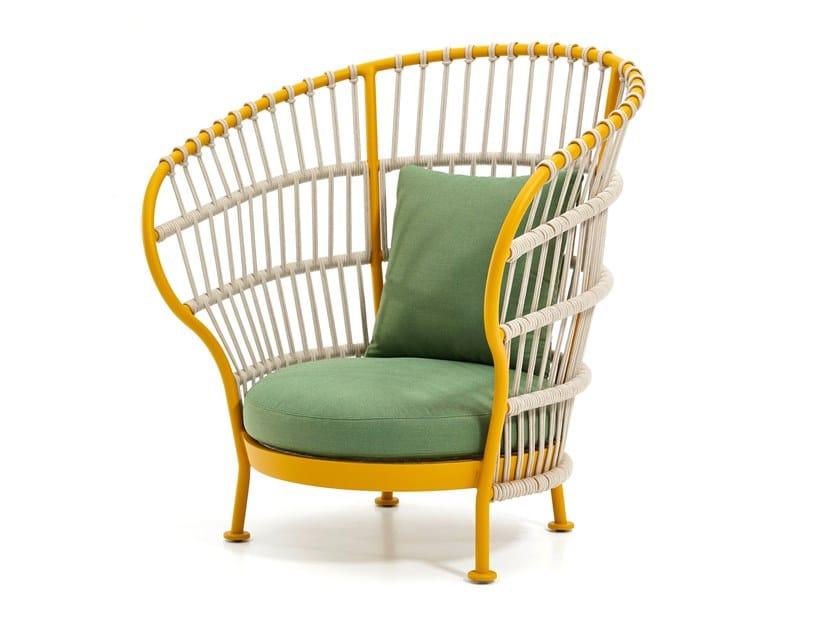 High-back garden armchair NEST | High-back garden armchair by Kun Design