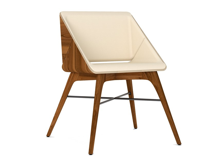 Upholstered solid wood chair NEST | Solid wood chair by AROUNDtheTREE