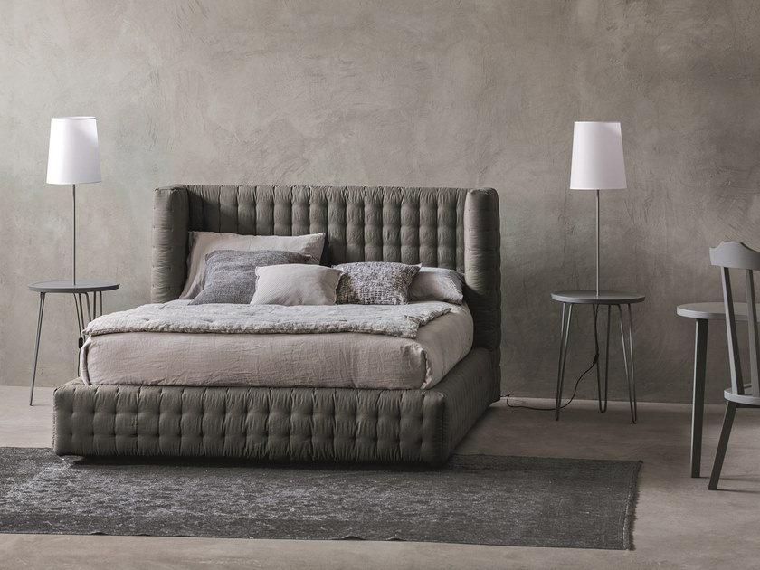 Bed with tufted headboard NEST by Letti&Co.
