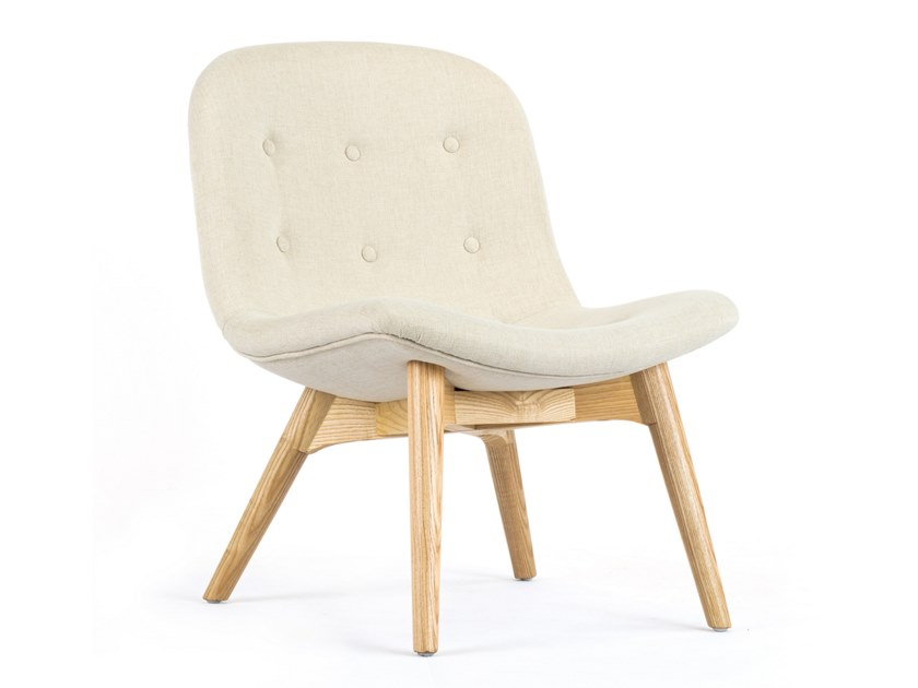 Tufted fabric easy chair NEST by meeloa