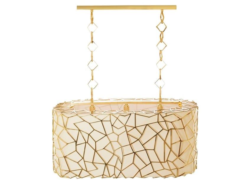 Handmade silk pendant lamp NEST | Pendant lamp by Creativemary