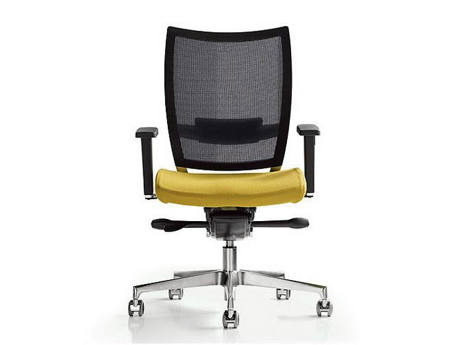 Task chair with 5-Spoke base with armrests NEST | Task chair by Diemme