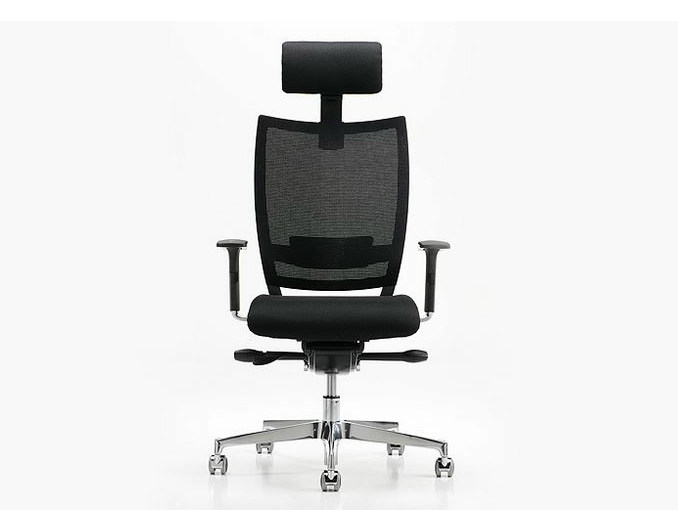 Executive chair with 5-spoke base with armrests NEST | Executive chair with headrest by Diemme