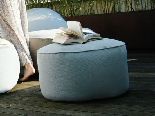Fabric pouf with removable lining NEST | Garden pouf by GART