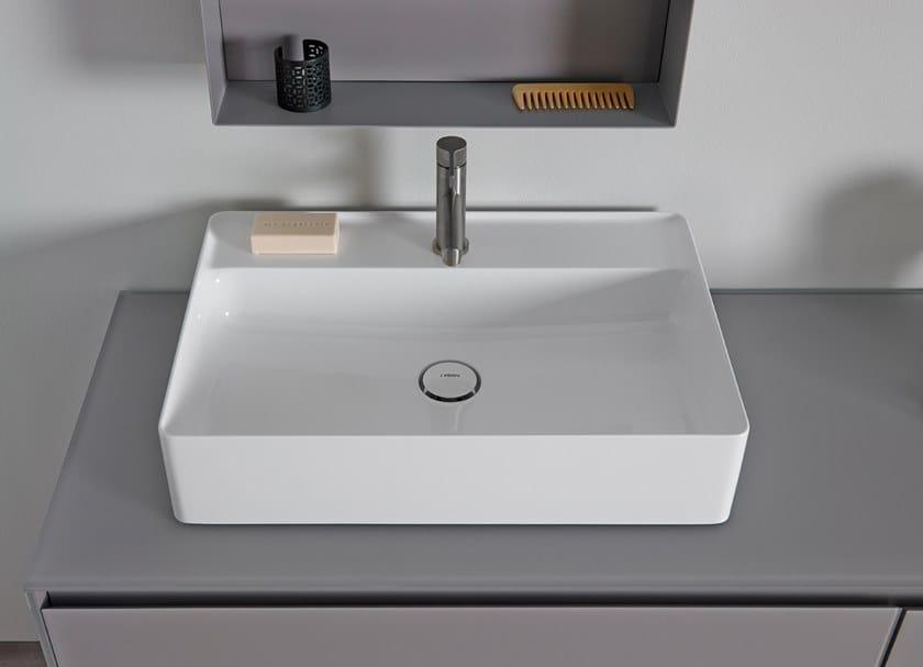 Countertop rectangular Solid Surface washbasin NEST | Washbasin by INBANI