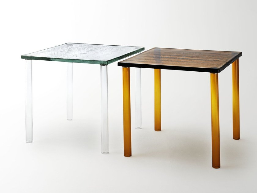 Square Murano glass table NESTING | Table by Glas Italia