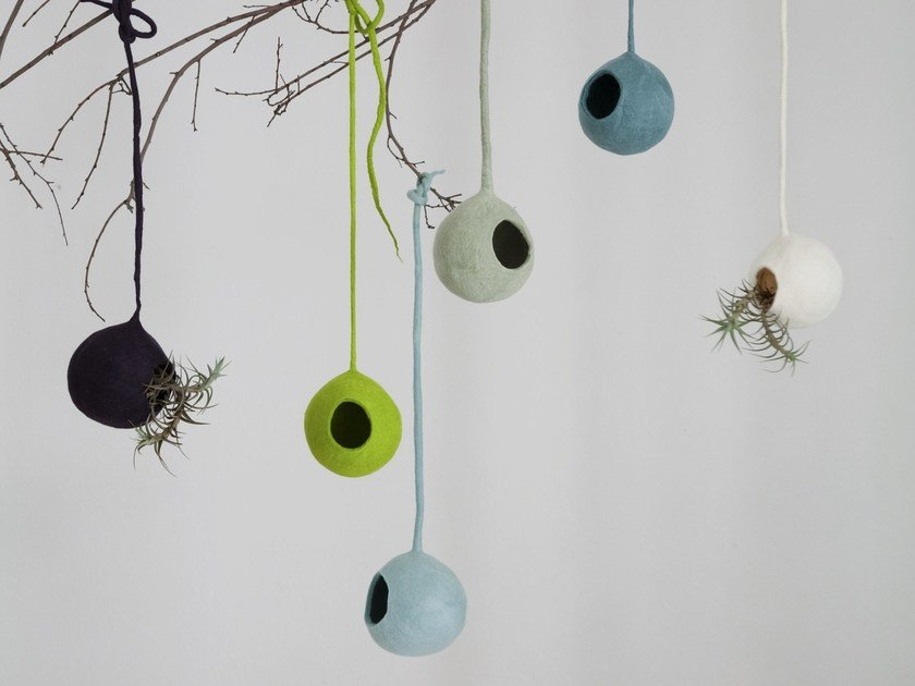 Wool felt hanging decoration NESTS by Ronel Jordaan
