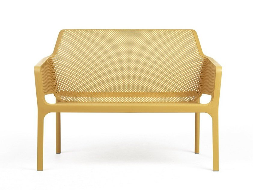 Panca da giardino impilabile NET BENCH By Nardi