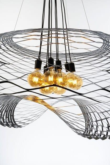 Direct light iron pendant lamp NET BIG by ZAVA