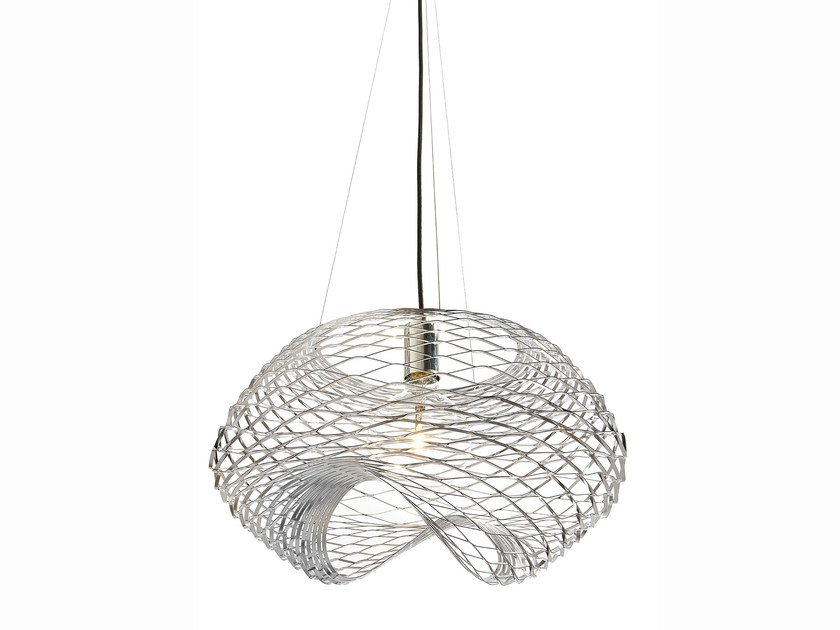 Direct light metal pendant lamp NET | Pendant lamp by ZAVA