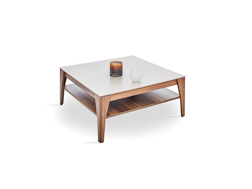 Square wooden coffee table NETHA | Square coffee table by Enza Home