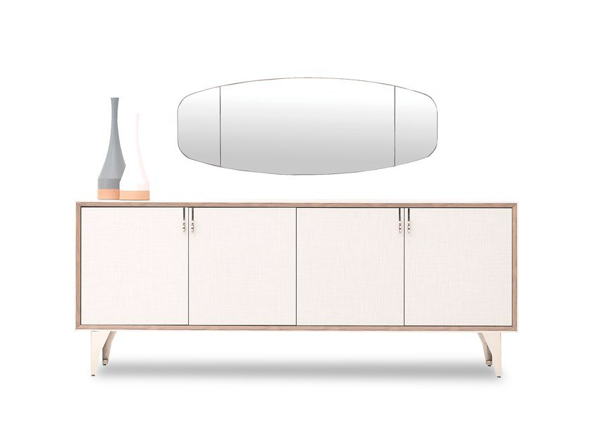 Wooden sideboard with doors NETHA | Sideboard by Enza Home