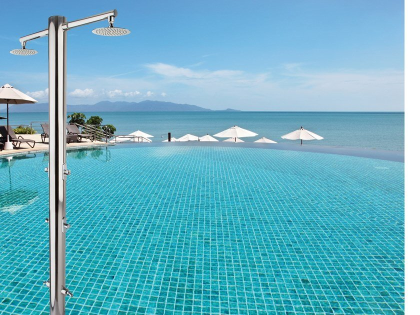 Stainless steel outdoor shower / Swimming pool shower NETTUNO By ...
