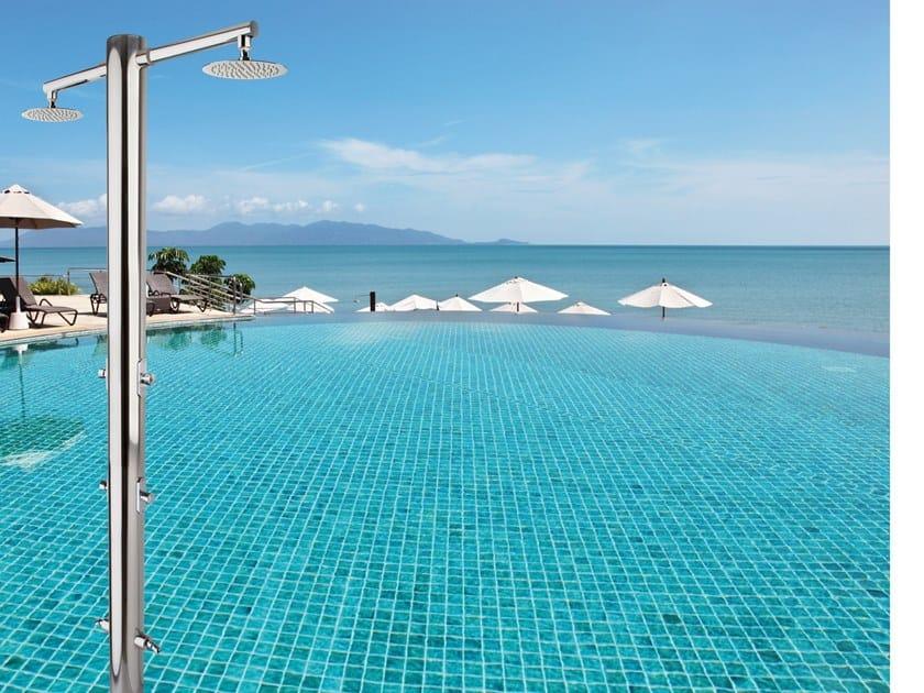 Doccia esterna / doccia per piscine in acciaio inox NETTUNO by Ama Luxury Shower
