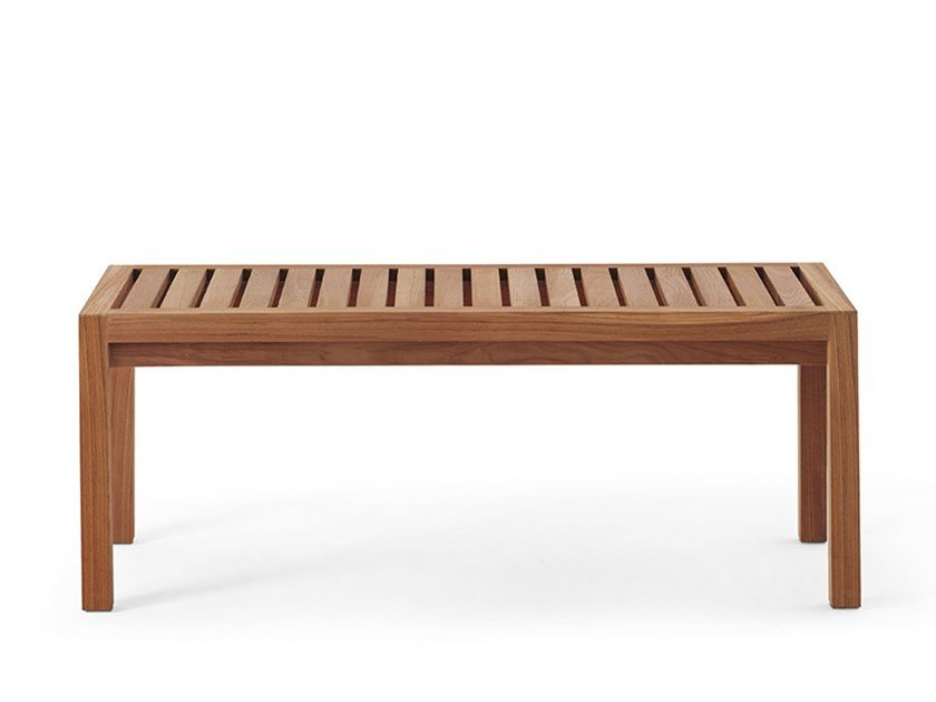 Teak garden bench NETWORK | Garden bench by RODA