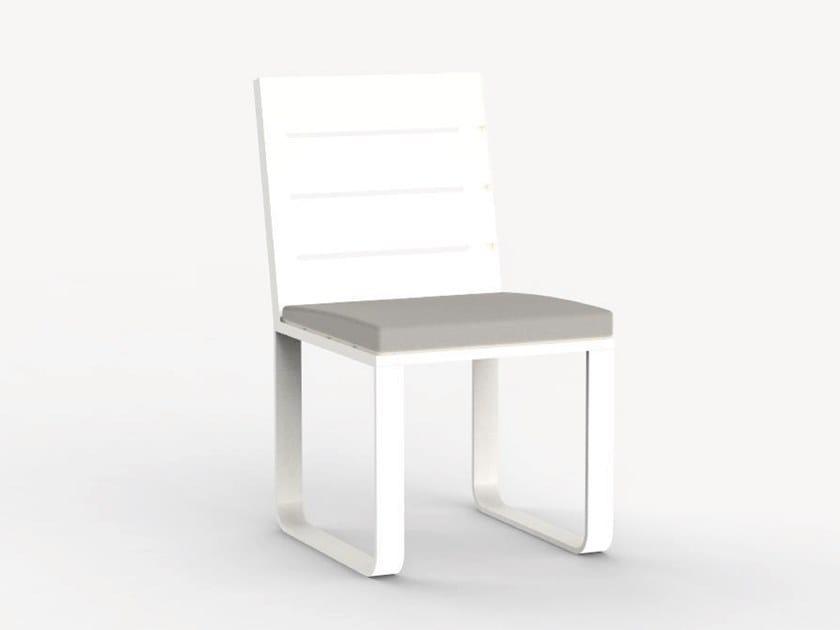 Sled base aluminium garden chair NEUTRA by Ciela Mare