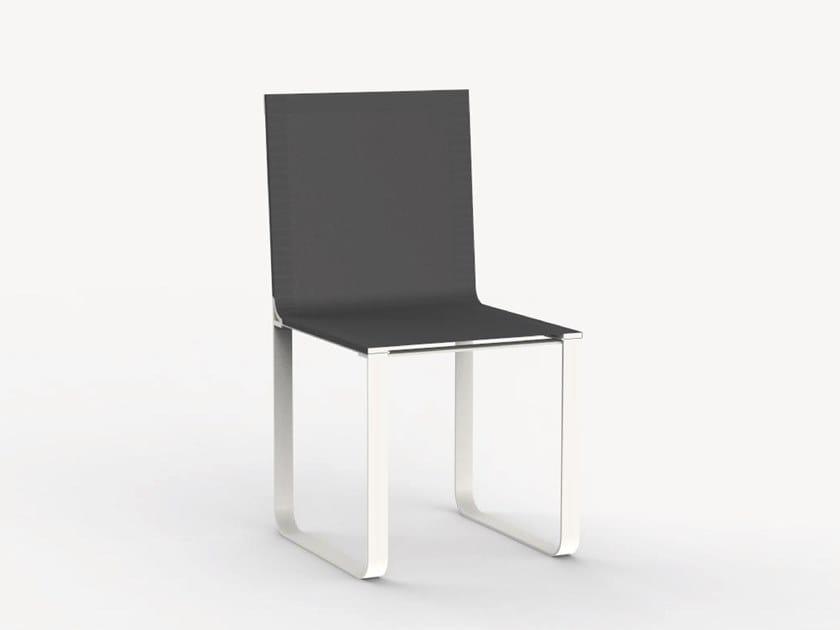 Sled base garden chair NEUTRA II by Ciela Mare