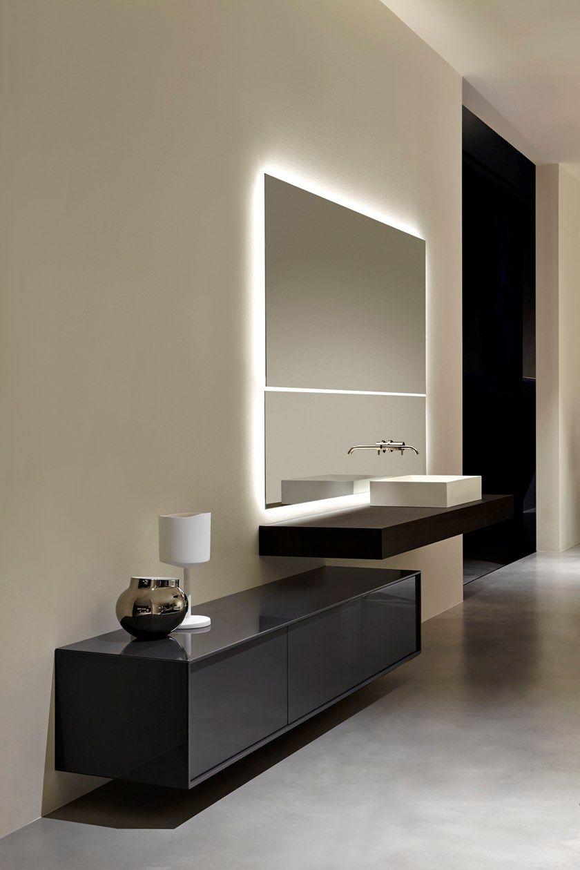 Antonio Lupi Specchi Bagno.Specchio Da Parete Con Mensola Per Bagno Neutrokit Antonio Lupi Design