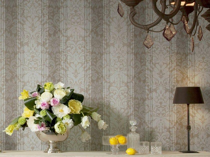 Damask fabric wallpaper NEVA DAMASK STRIPE by Omexco