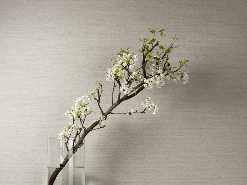 Fabric wallpaper NEVA PLAIN REED by Omexco