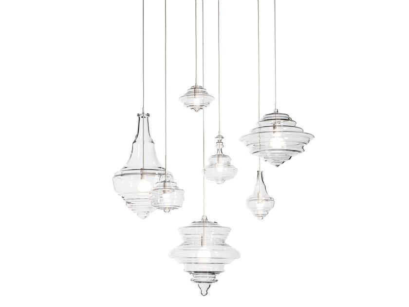 Crystal pendant lamp NEVERENDING GLORY by Lasvit