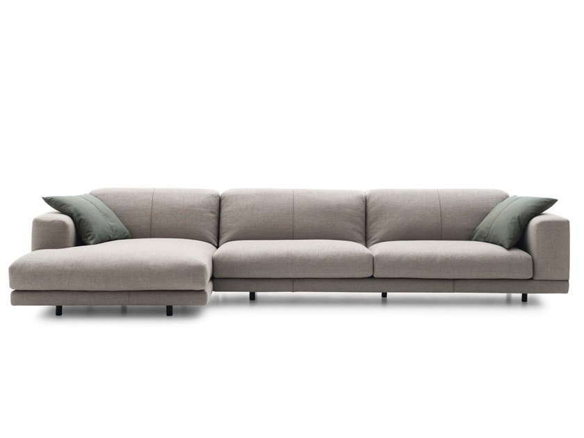 3 seater fabric sofa with chaise longue NEVYLL HIGH | Sofa with chaise longue by Ditre Italia
