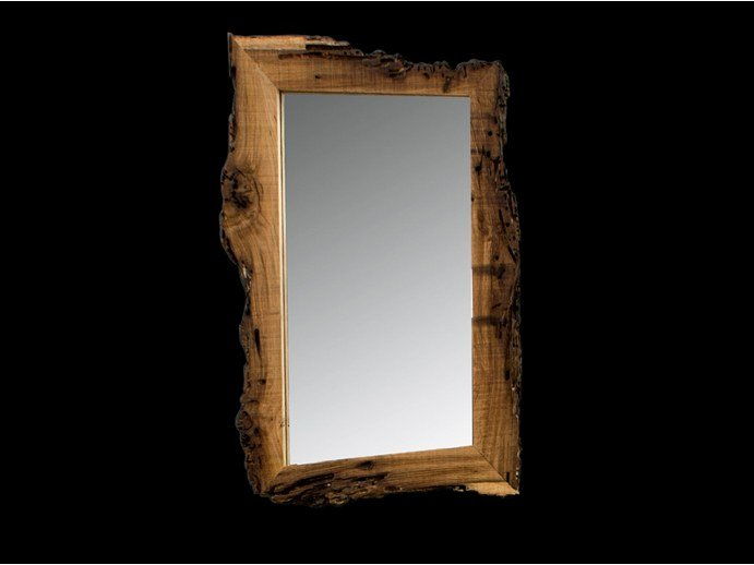 Rectangular framed wooden mirror NEW AGE by BLEU PROVENCE