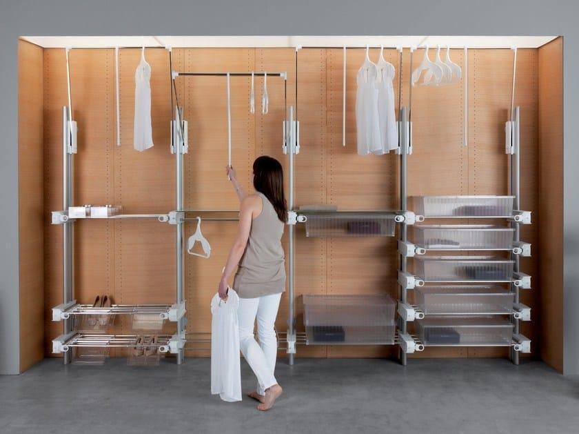 Sectional aluminium walk-in wardrobe NEW BASIC by Servetto