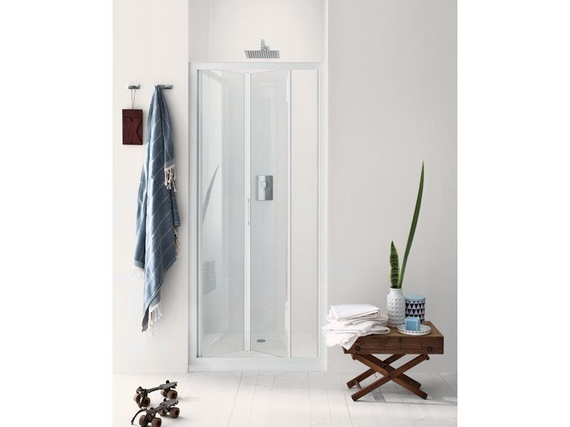 Niche glass shower cabin with folding door NEW CLAIRE - 6 by INDA®