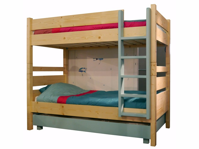 Wooden bunk bed NEW CLASSICS | Bunk bed by Mathy by Bols
