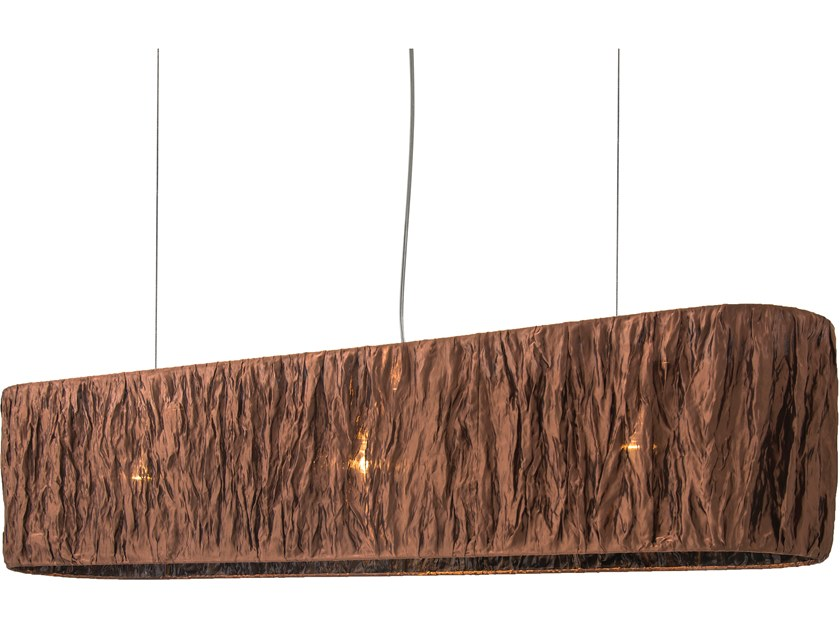 Direct light fabric pendant lamp NEW DAWN H3 by ILFARI